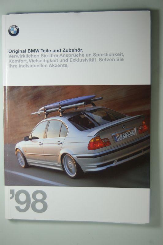 BMW: Original BMW Teile und Zubehör. 125 Seiten Katalog 1998 mit Preisliste.