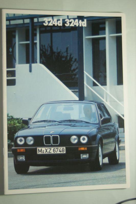 BMW: Prospekt BMW 324d 324 td 1987