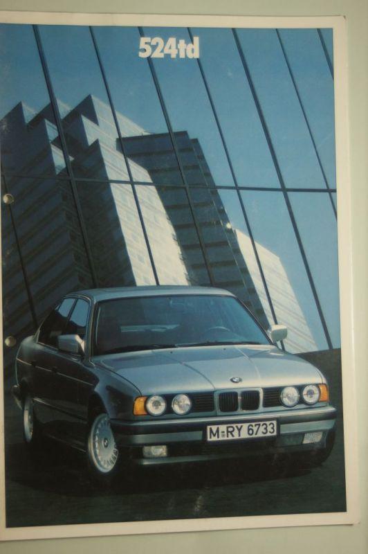 BMW: Prospekt BMW 524 td 1988