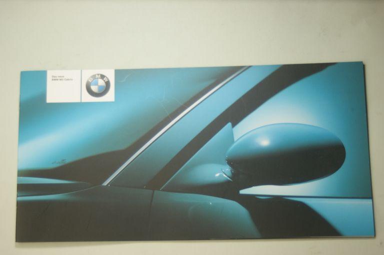 BMW: Prospekt BMW Das neue BMW M3 Cabrio 2001
