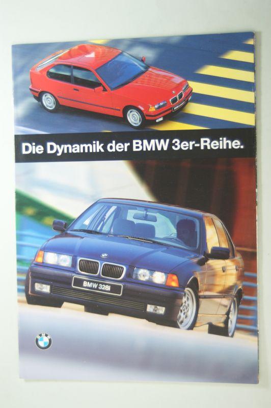 BMW: Prospekt BMW Die Dynamik der BMW 3er-Reihe 1996