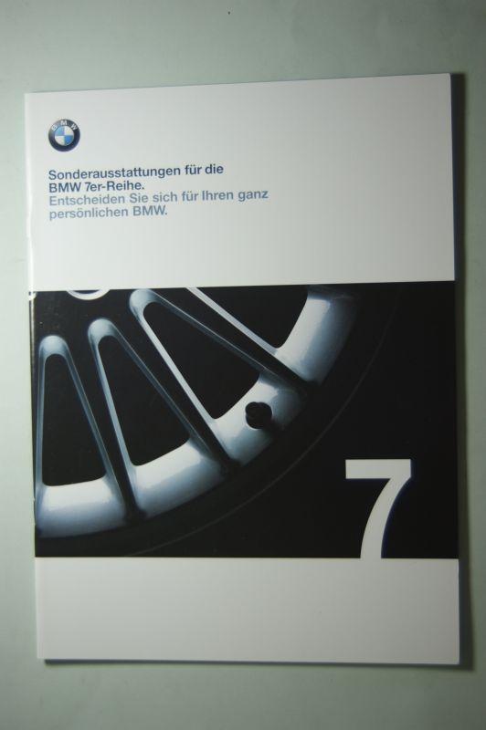 BMW: Prospekt BMW Sonderaustattungen für die 7er-Reihe 02/1999