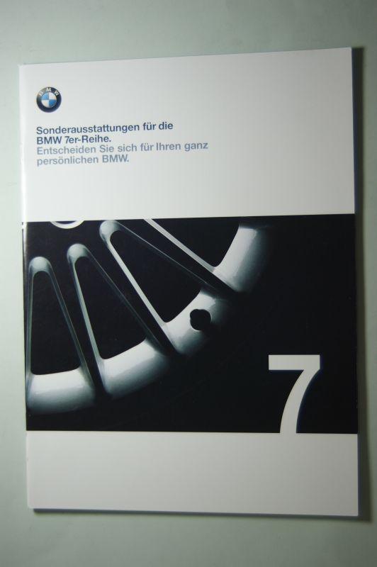 BMW: Prospekt BMW Sonderaustattungen für die 7er-Reihe 2000