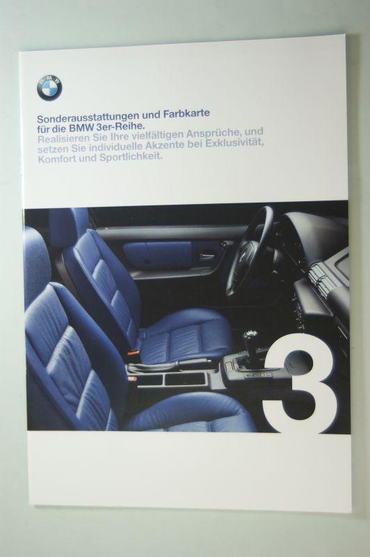 BMW: Prospekt BMW Sonderaustattungen und Farbkarte für die BMW 3er-Reihe 01/1999