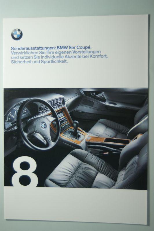 BMW: Prospekt Die BMW 8er Coupes Sonderaustattungen 1998