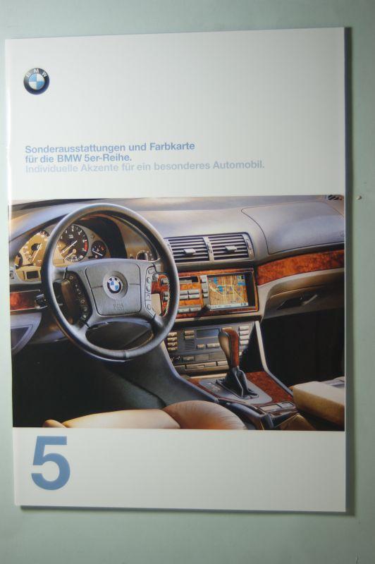 BMW: Prospekt Sonderaustattungen und Farbkarte BMW 5er 02/1997