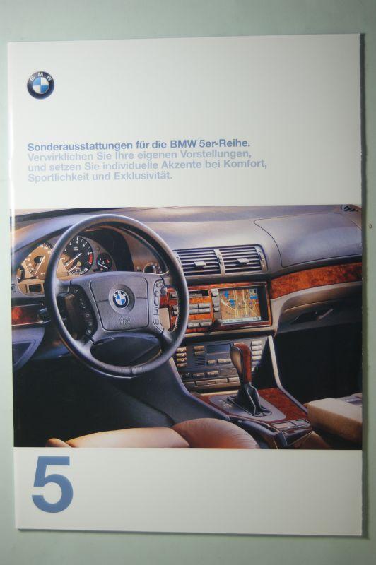 BMW: Prospekt Sonderaustattungen und Farbkarte BMW 5er 01/1997
