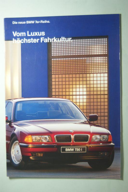 BMW: Prospekt Vom Luxus höchster Fahrkultur Die neu BWM 7er-Reihe 1994