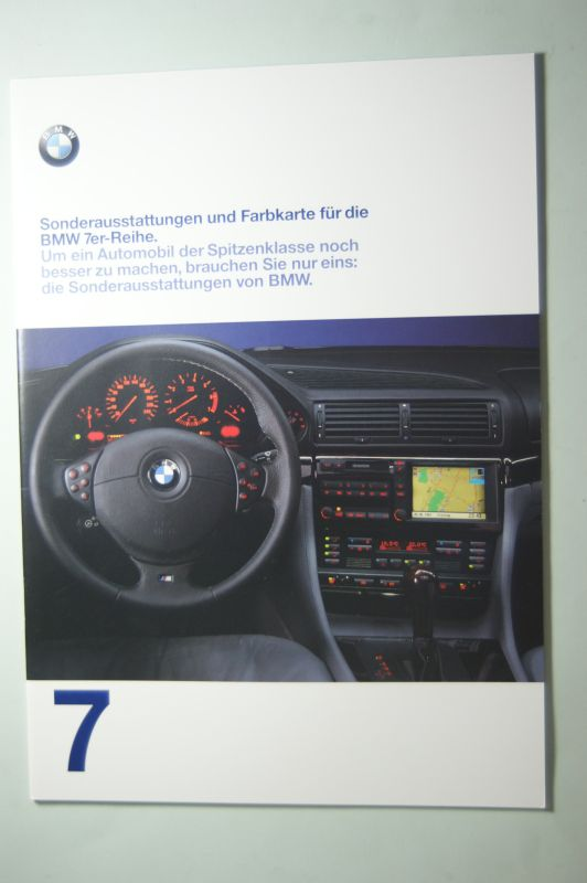 BMW: Sonderaustattungen und Farbkarte für die BMW 7er-Reihe 1997