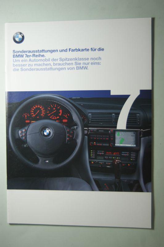 BMW: Sonderaustattungen und Farbkarte für die BMW 7er-Reihe 1998