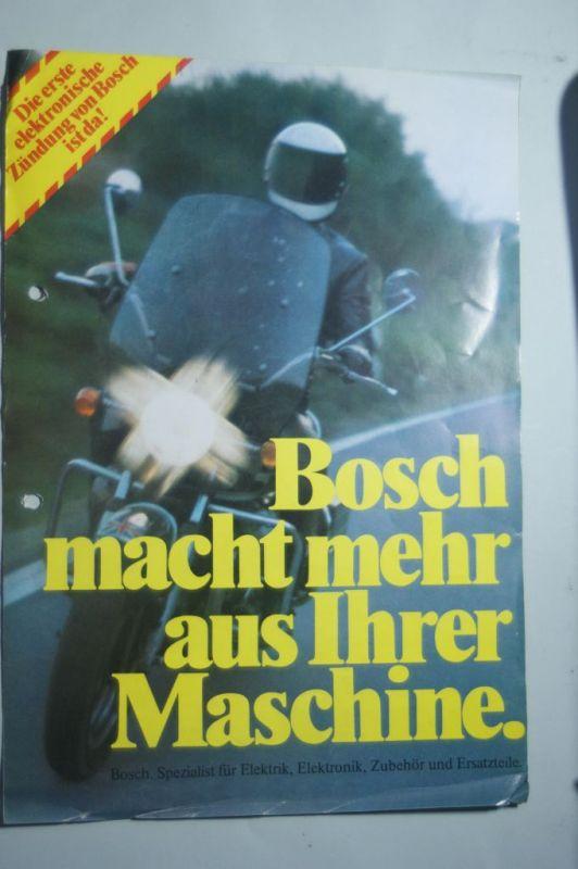 Bosch: Faltblatt Bosch elektronische Zündung für Motorräder 1976