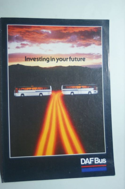 DAF: Faltblatt DAF Bus aus den 1980igern