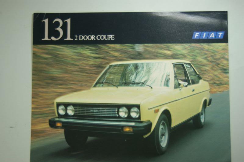Fiat: Infoblatt Fiat 131 2 Door Coupe 1977 USA