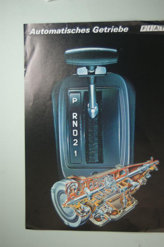 Fiat: Infoblatt Fiat Automatisches Getriebe Mitte 1970igern