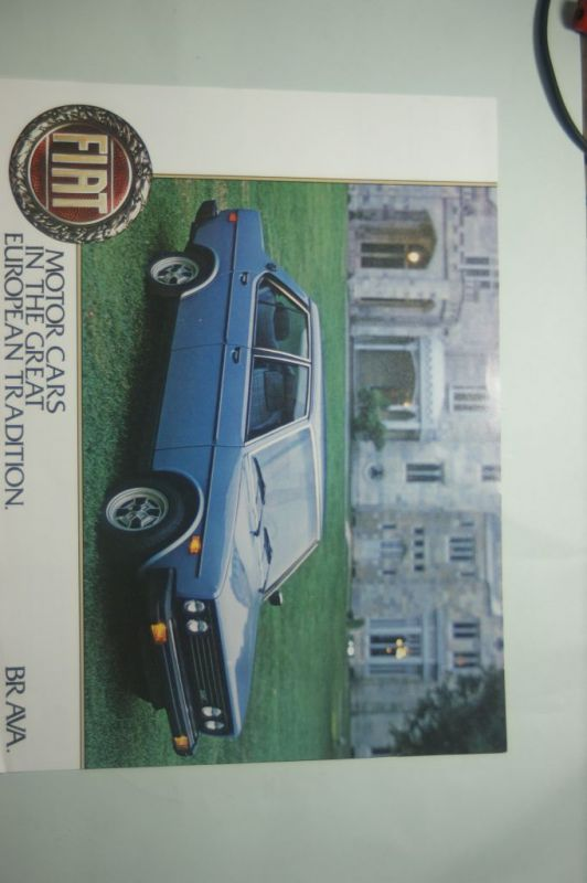 Fiat: Infoblatt Fiat BRAVA 2DR. 4DR. aus den 1970igern
