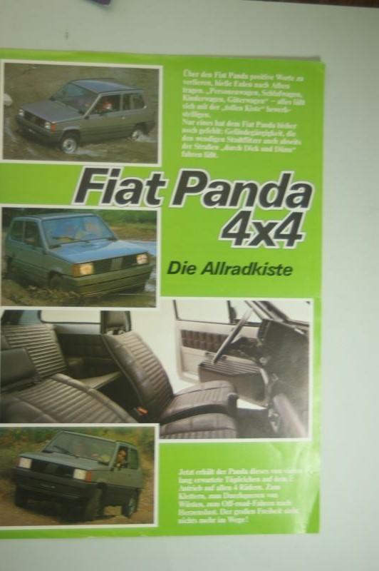 Fiat: Infoblatt Fiat Panda 4x4 aus den 1980igern