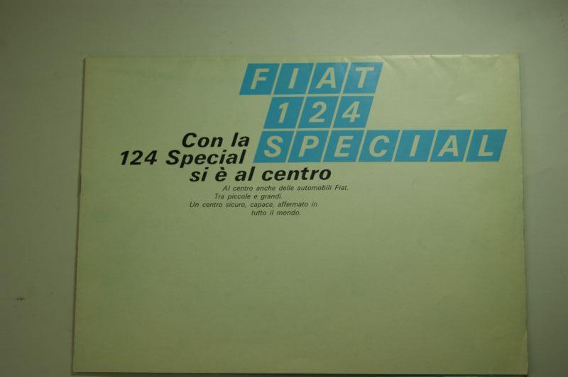 Fiat: Mehrfach-Faltblatt Fiat 128 Special um 1975 ital.