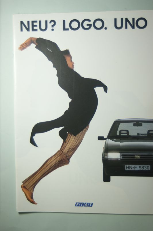 Fiat: Prospekt Fiat Logo. Uno aus den 1980igern