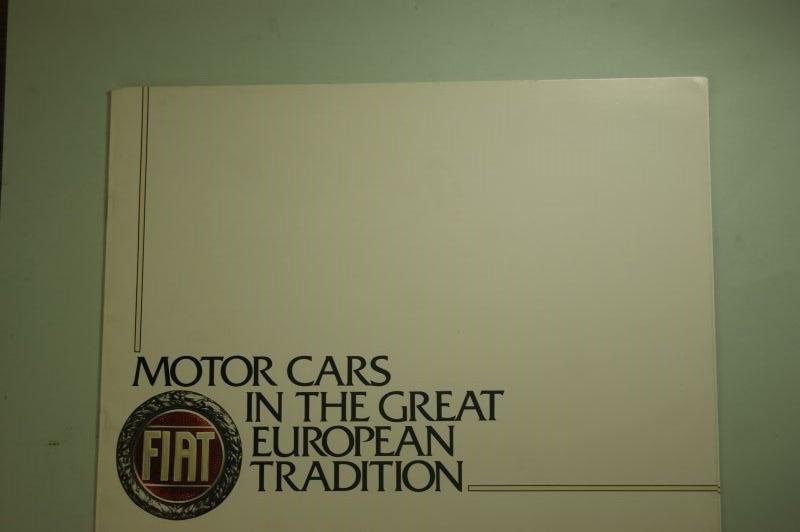 Fiat: Prospekt Fiat Motors Cars 1972