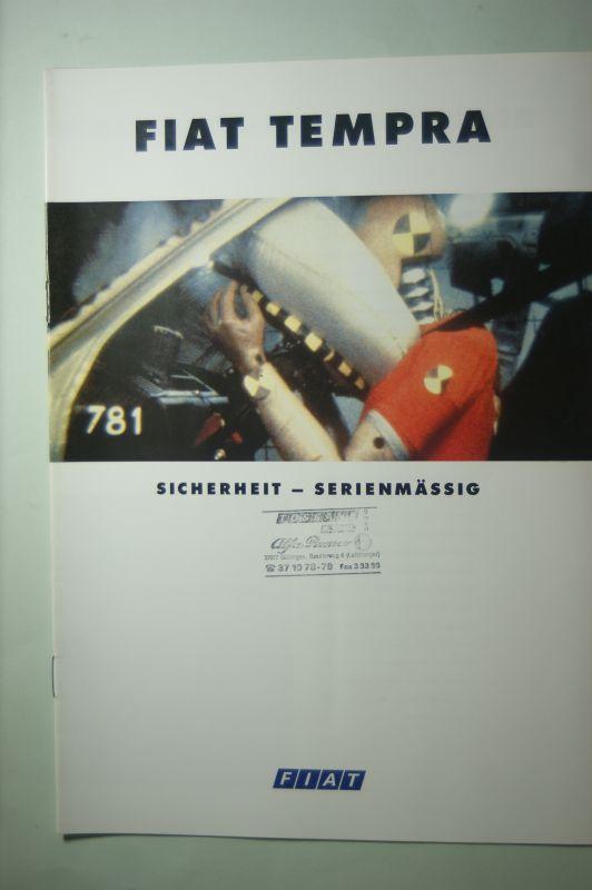 Fiat: Prospekt Fiat Tempra Sicherheit 1993