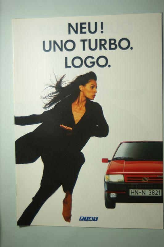 Fiat: Prospekt Fiat Uno Turbo 1990