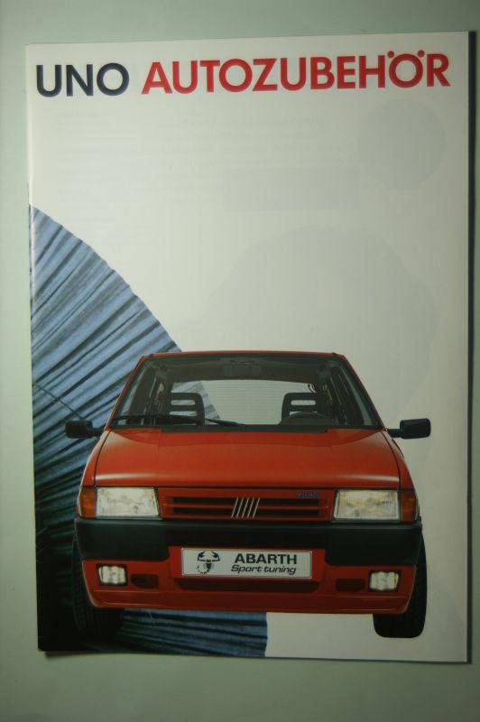 Fiat: Prospekt Fiat Uno Zubehör 1989