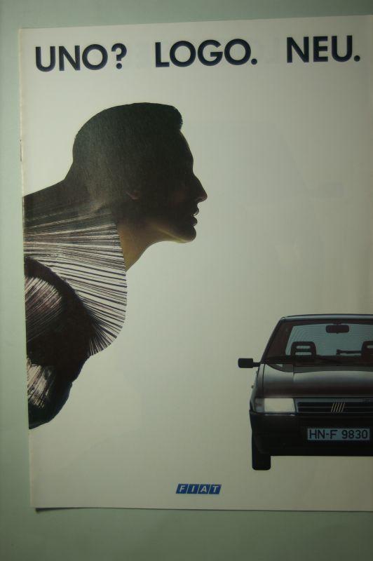 Fiat: Prospekt Fiat Uno? Logo. Neu 09/1989
