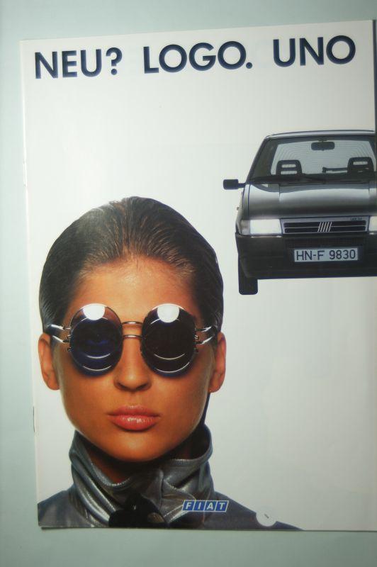 Fiat: Prospekt Fiat Uno? Logo. Neu 10/1989