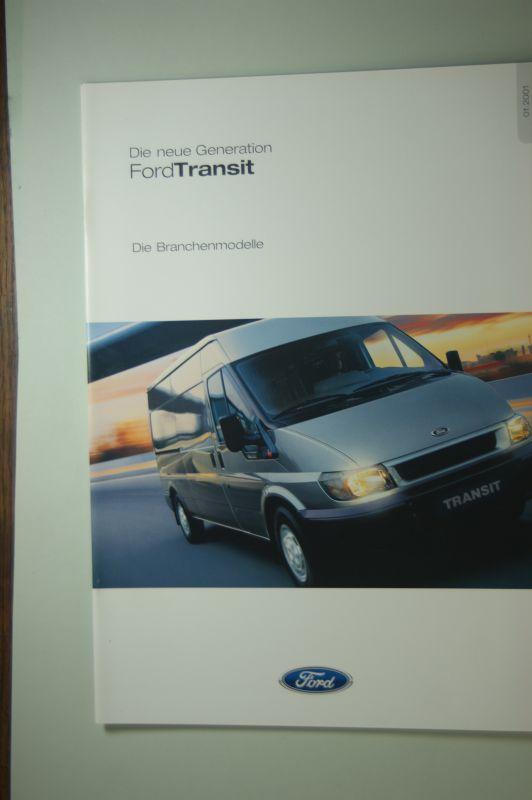 Ford: Prospekt Ford Transit Die Branchenmodelle 01.2001