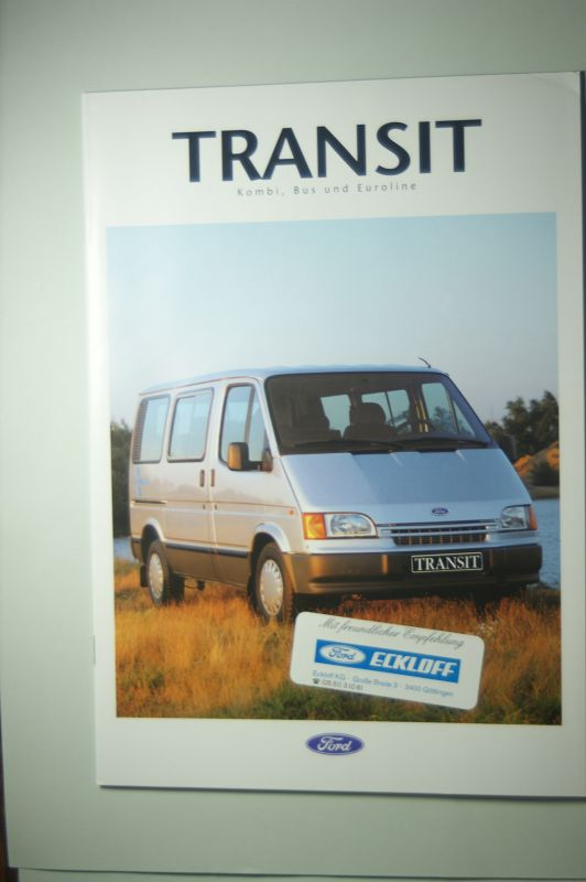 Ford: Prospekt Ford Transit Kombi, Bus und Euroline 8/1992
