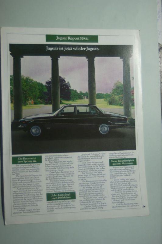 Jaguar: Faltblatt Jaguar Report 1984