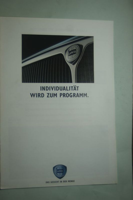 Lancia: Prospekt Lancia Individualität wird zum Programm 1991