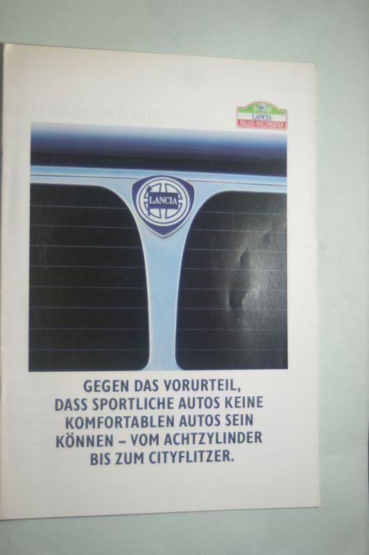 Lancia: Prospekt Lancia Rallye-Weltmeister Gegen das Vorurteil 1988