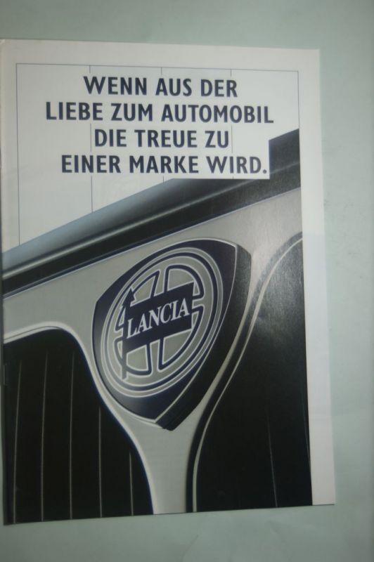 Lancia: Prospekt Lancia Wenn aus der Liebe... aus den 1990igern