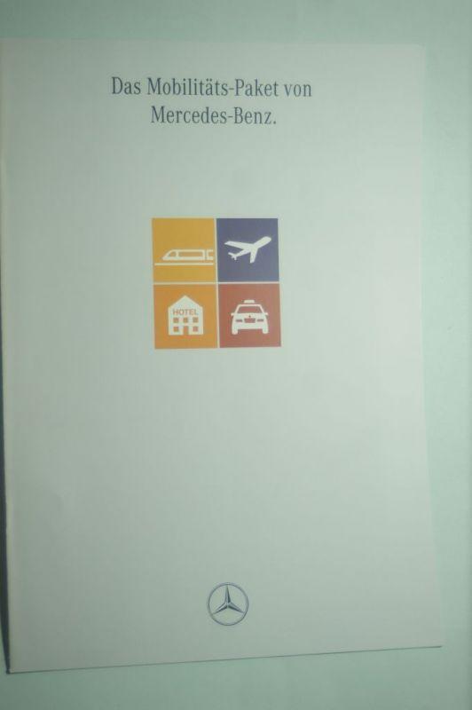 Mercedes-Benz: 8 Seiten-Prospekt Mercedes-Benz Das Mobilitäts-Paket 08/1992