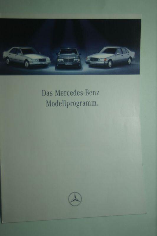 Mercedes-Benz: 8 Seiten-Prospekt Mercedes-Benz Modellprogramm 06/1993
