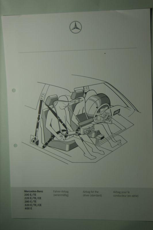 Mercedes-Benz: Mercedes-Benz Schnittbild Fahrer-Airbag 200E/TE 220E/TE/CE bis 400E aus den 1980igern