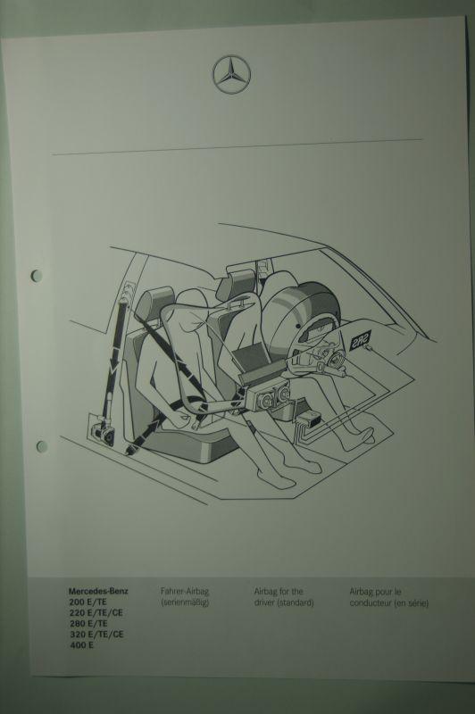 Mercedes-Benz: Mercedes-Benz Schnittbild Fahrer-Airbag 200E/TE bis 400E aus den 1980igern