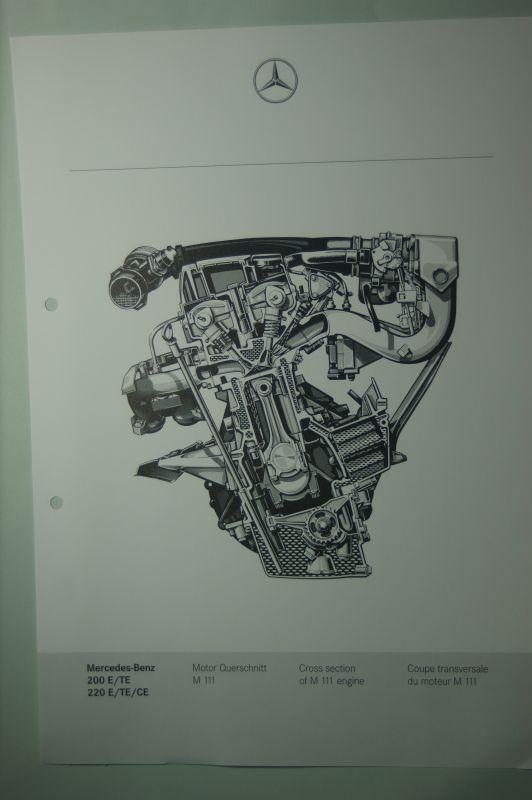 Mercedes-Benz: Mercedes-Benz Schnittbild Motor 200E/TE 220E/TE/CE aus den 1980igern