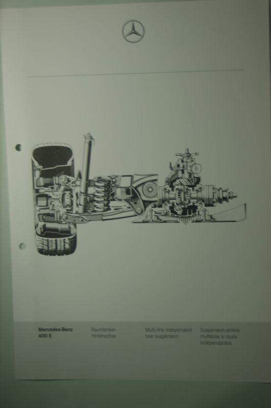 Mercedes-Benz: Mercedes-Benz Schnittbild Raumlenker- Hinterachse 400E aus den 1980igern