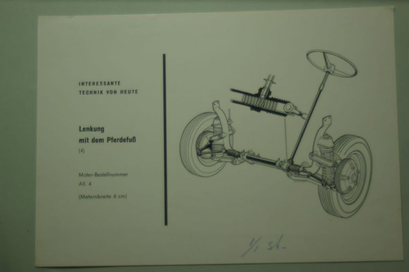 NSU: Schnittzeichnung Lenkung NSU Prinz aus den 1960igern