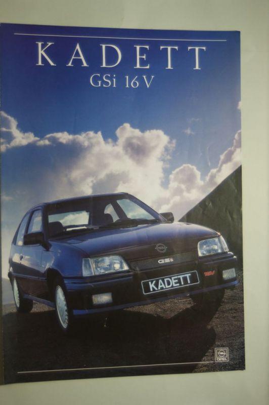 Opel: Faltblatt Opel Kadett GSi 16V 02/1988