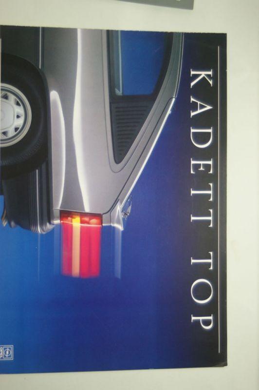 Opel: Faltblatt Opel Kadett Top 01/1988