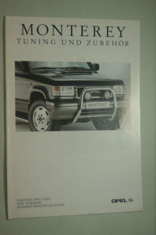 Opel: Faltblatt Opel Monterey Tuning und Zubehör 03/1993