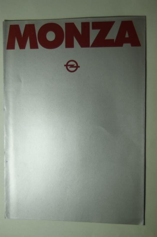 Opel: Faltblatt Opel Monza