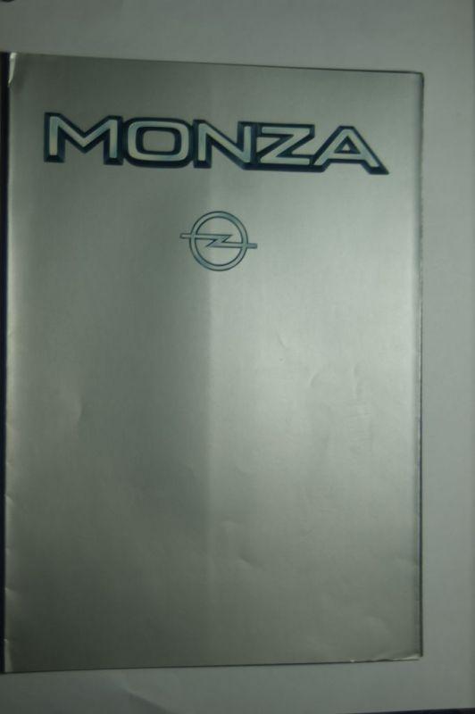 Opel: Faltblatt Opel Monza 02/1984