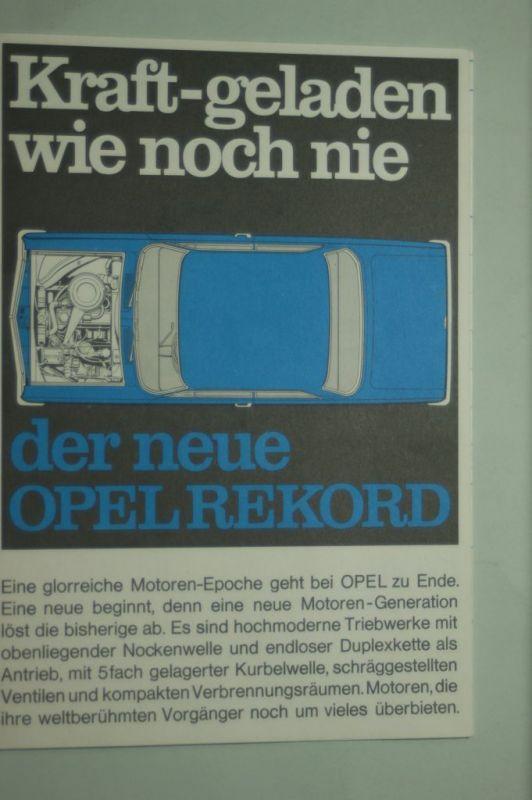 Opel: Faltblatt Opel Rekord Kraft-geladen wie noch nie 1965