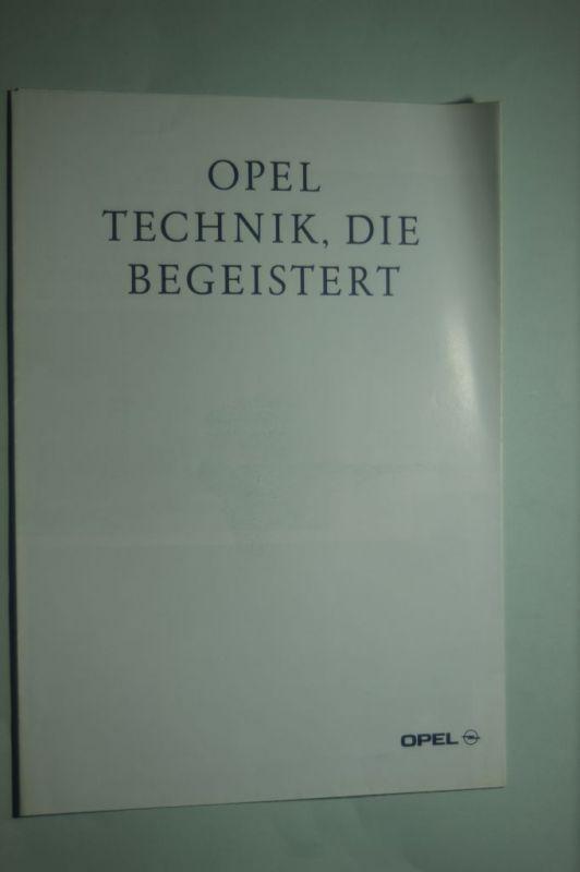 Opel: Faltblatt Opel Technik, die begeistert 08/1993