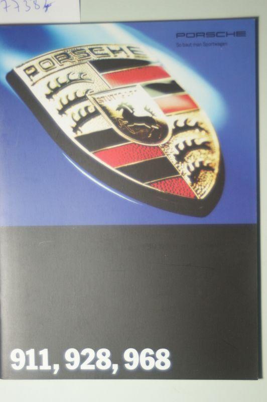 Porsche: A5 Prospekt Porsche 1993