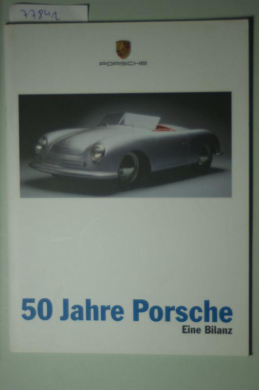 Porsche: A5 Prospekt Porsche 50 Jahre Porsche 1997